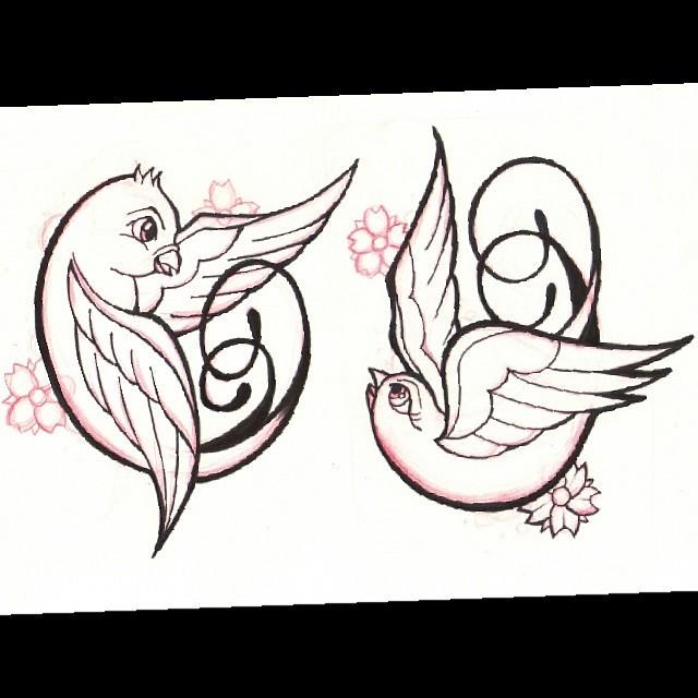 Desenho Antigo Da Tattoo Da Kaka Andorinha Swallow Pass Flickr