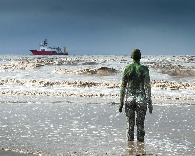 Man of The Sea Crosby Beach Merseyside