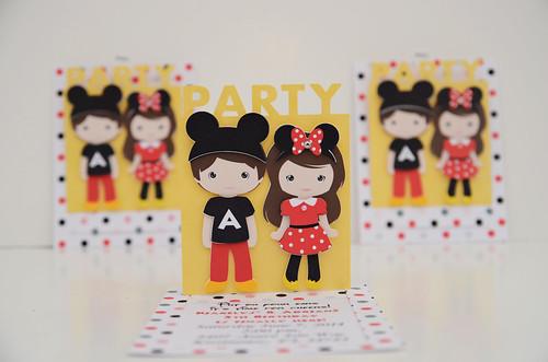 Mickey and Minnie Invitations (8)