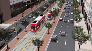 DC Streetcar on K Street Transitway (rendering) | by BeyondDC