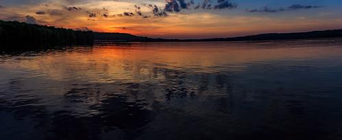 trees panorama lake clouds landscape dusk scenic vivid moraine davidsharo