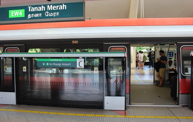 Singapore: Tanah Merah station, interchange for Changi Airport
