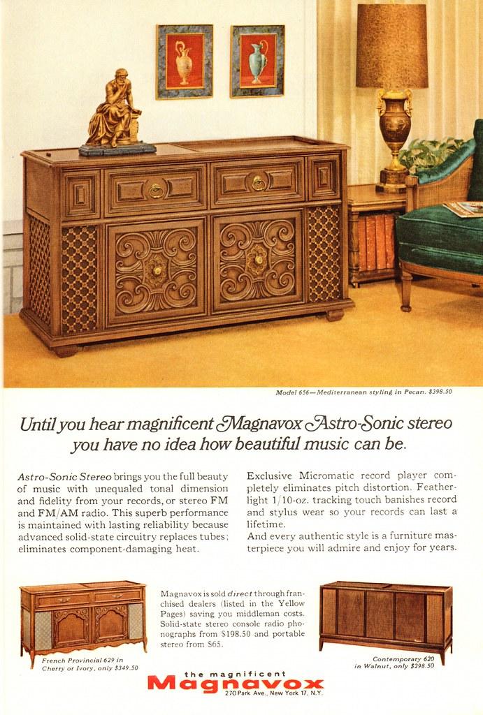 1966 Magnavox Astro-Sonic Stereo Advertisement National Ge