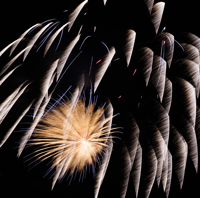 Fire Works Abstract