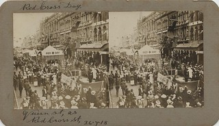 Red Cross Day parade in Queen Street, Brisbane, 1918