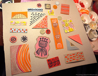 Patchwork Collage WIP | by Flora Chang | Happy Doodle Land