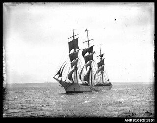 Vessel underway, possibly the training ship MERSEY | by Australian National Maritime Museum on The Commons