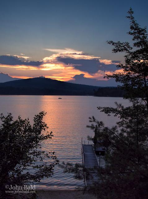 Summer Sunset on Bear Pond, Turner, Maine (90423)