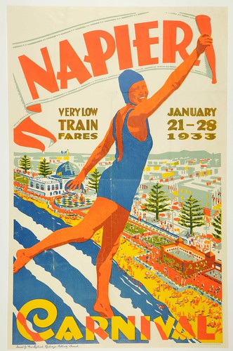 New Zealand Railway poster - Napier Carnival 1933 | by Archives New Zealand