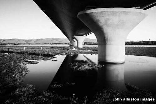 bridge blackandwhite bw monochrome sunrise mono blackwhite kincardine ochils clackmannan