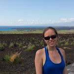 Emily and a scenic overlook, Big Island