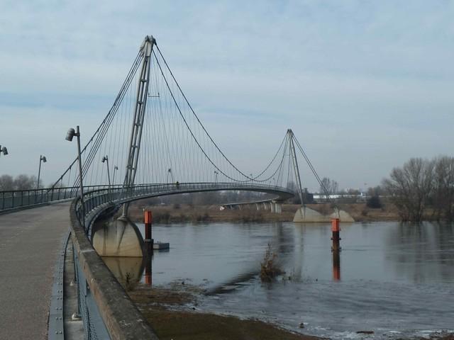 Herrenkrug Bridge in Magdeburg, Germany