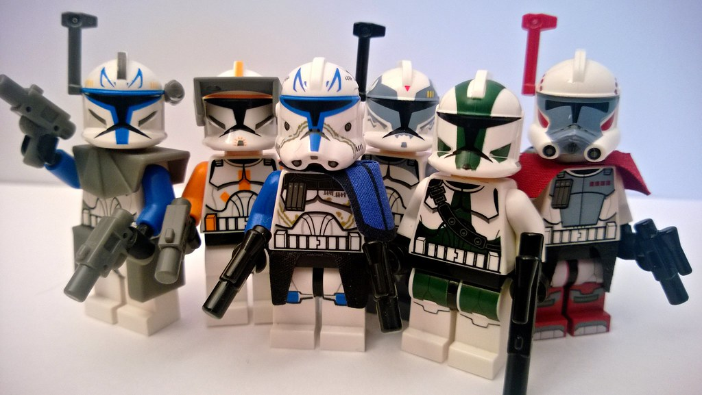 Lego Clone Wars Clone Commanders Collection My Clone Wars Flickr