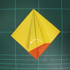 วิธีพับกระดาษเป็นรูปนกยูง (Origami Peacock - ピーコックの折り紙) 010