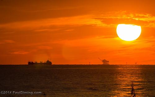 sunset fall beach gulfofmexico landscape unitedstates alabama sunsets dailyphoto tanker gulfshores naturalgas oiltanker baldwincounty gulfshoresalabama baldwincountyalabama d7000 naturalgasrig pauldiming gulfshoresbaldwincounty naturalgasoffshoredrillingrig