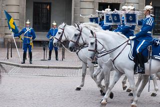 Mounted buglers