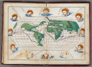 Världskarta med vindgudar | by Kungliga biblioteket