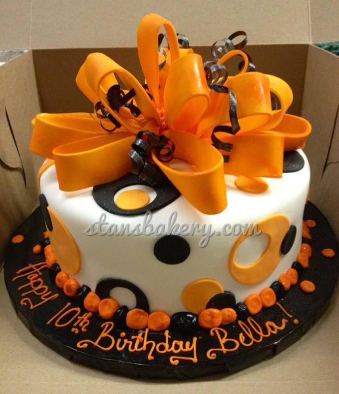Excellent Orange And Black Birthday Cake Stans Northfield Bakery Ww Flickr Funny Birthday Cards Online Aeocydamsfinfo