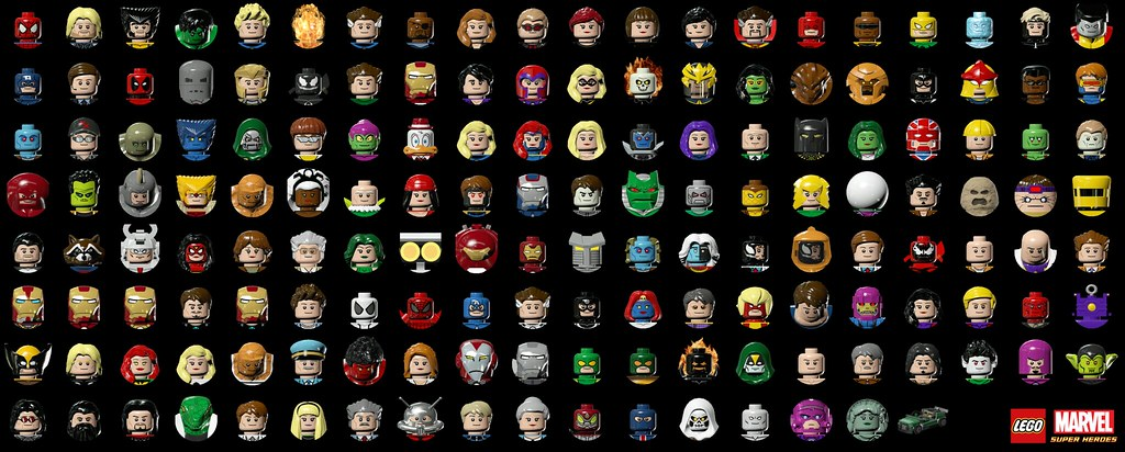 All LEGO Marvel Characters | LEGO Marvel Super Heroes All Ch ...