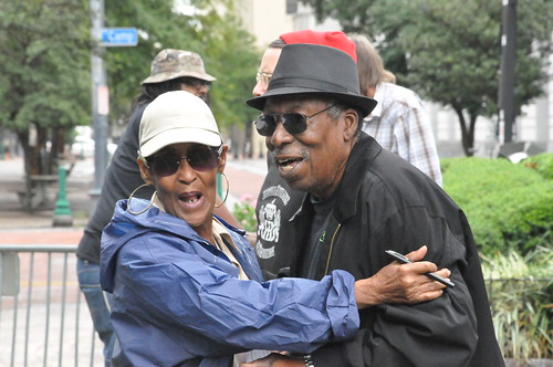 Dee Lindsey and Alfred Uganda Roberts at Crescent City Blues & BBQ Fest. Photo by Kichea S Burt.