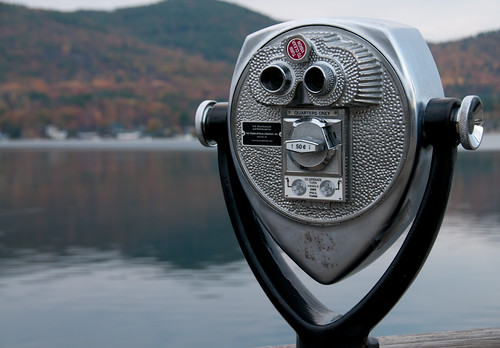 morning autumn usa sunrise lakegeorge binoculars newyorkstate