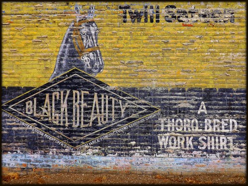Detail, Wall Sign: Black Beauty Work Shirt--Highland Park MI