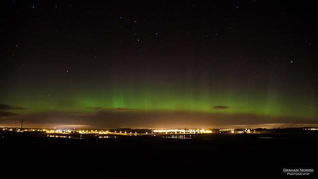 Aurora Borealis over Carstairs, Scotland
