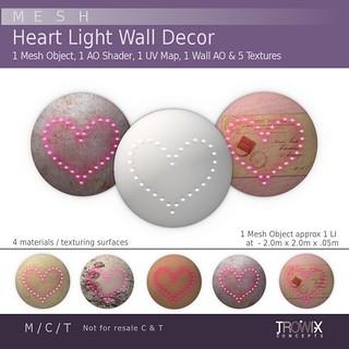Trowix - Lighted Heart Wall Decor Vend