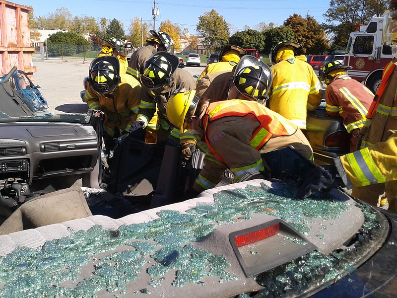 Co-op Student Auto Extrication Training