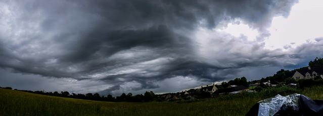 Storm Cloud Panorama 16:33BST