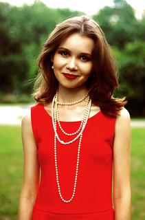 Red dress   by anastasia r