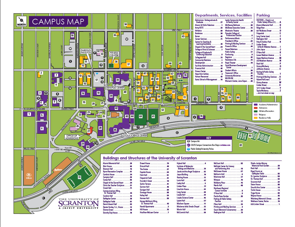 scranton university campus map 2012 Campus Map Map Of The University Of Scranton Campus F Flickr scranton university campus map