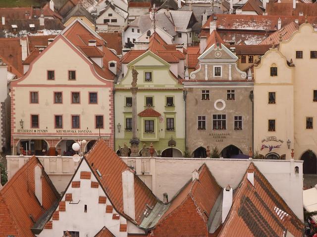 Plaza del ayuntamiento de Cesky Krumlov (República Checa)