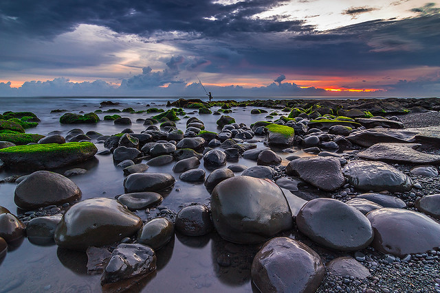 Boulders in Selabih Beach