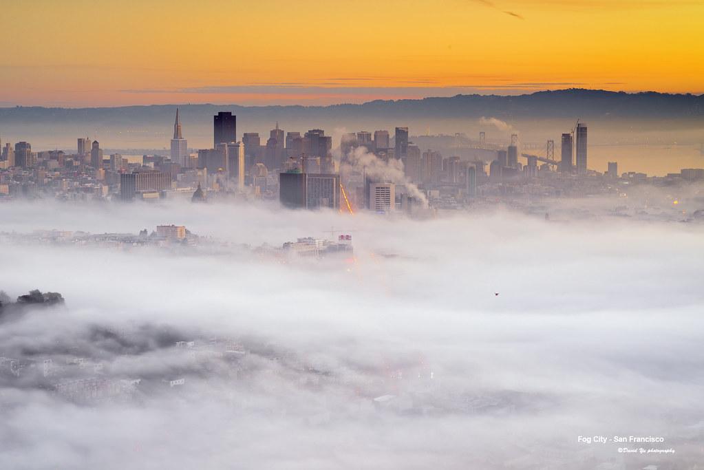 Fog City - San Francisco | Morning Low Fog Twin Peaks San ...