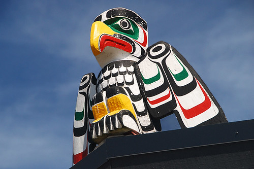 Totem at I-Hos Gallery, Courtenay, Vancouver Island, British Columbia
