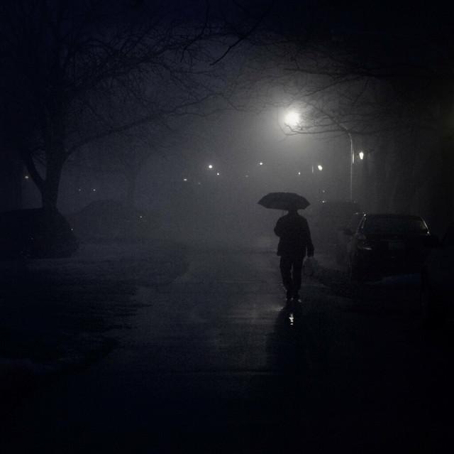 Walk in Night Rain