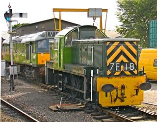 RD1222.  'Teddy Bear' Diesel-Hydraulic 0-6-0 on the West Somerset Railway.