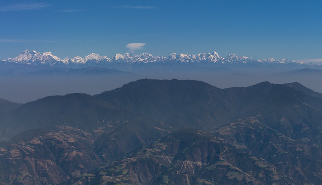 Flying into the Kathmandu Valley