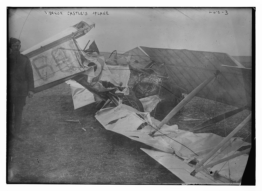 Vernon Castle's plane (LOC)