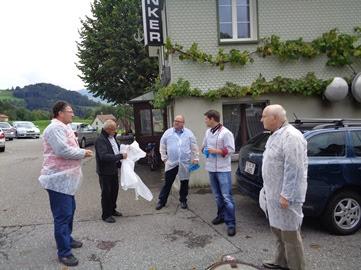 Besichtigung bei Philipp Fässler Culinarium-König