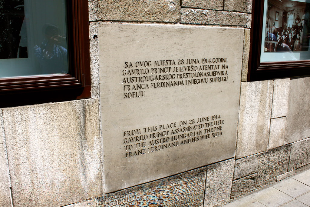 Franz Ferdinand Assassination Placard Sarajevo Taylor Mc