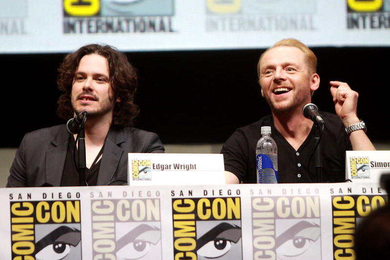 CC image Edgar Wright & Simon Pegg by Gage Skidmore at Flickr