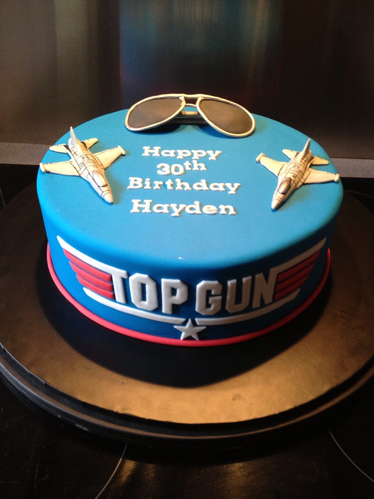 Awesome Top Gun 30Th Birthday Cake Sandra Socake Flickr Birthday Cards Printable Benkemecafe Filternl