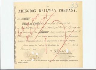 Abingdon Railway Share 1889 | by ian.dinmore