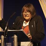 Ali Smith | Ali Smith speaks at the H G Wells Lecture at the Edinburgh International Book Festival © Helen Jones