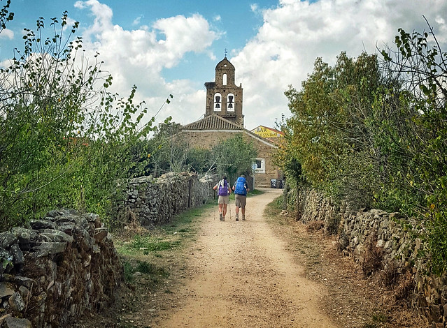 Approaching Santa Catalina de Somoza on the Camino de Santiago