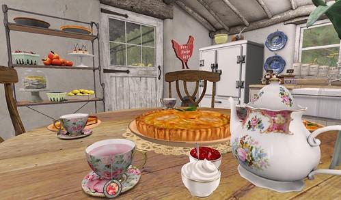 Farmhouse Kitchen_Tea Time | by Hidden Gems in Second Life (Interior Designer)