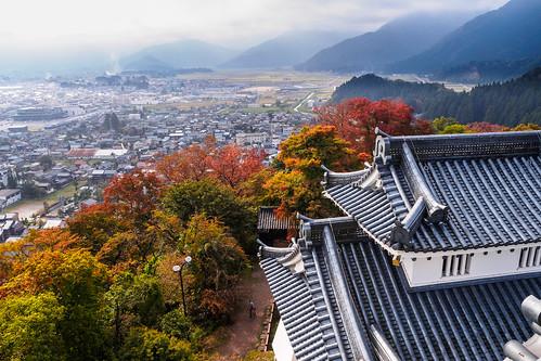 morning travel autumn castle japan view basin fukui m43 etizenoono
