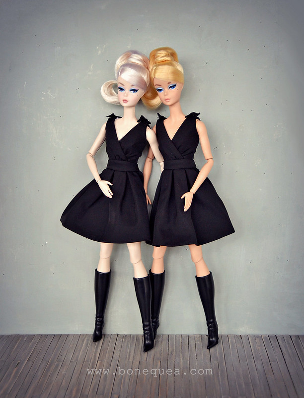 Classic Black Dress Barbie Comparison